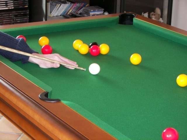 billard table en mode anglais